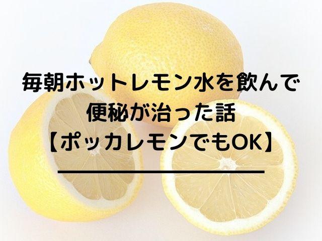 毎朝ホットレモン水を飲んで便秘が治った話【ポッカレモンでもOK】