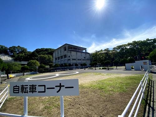 長崎交通公園の自転車コーナー